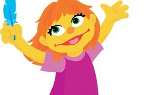 Sesame Street's newest friend Julia