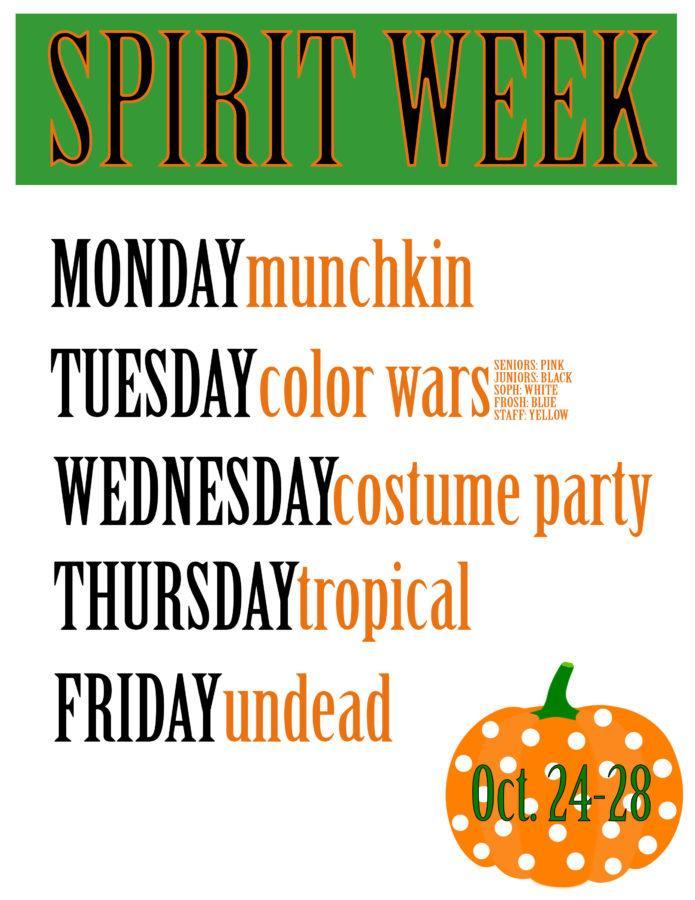 SPIRIT WEEK! OCT. 24th-28th