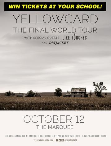 WIN Tickets to Yellowcard's Final World Tour!