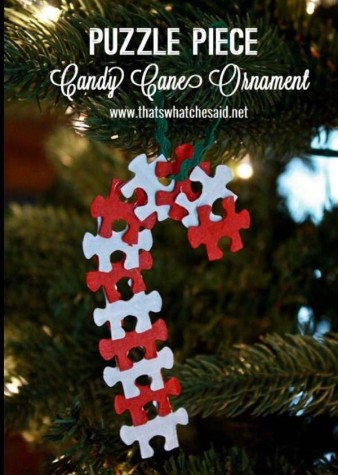 DIY Puzzle Candy Cane