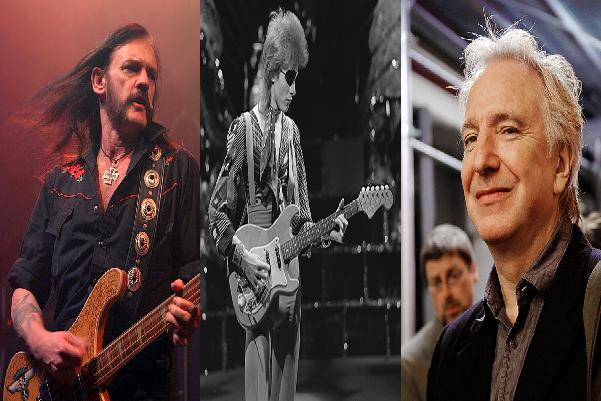 Lemmy Kilmister, David Bowie, Alan Rickman