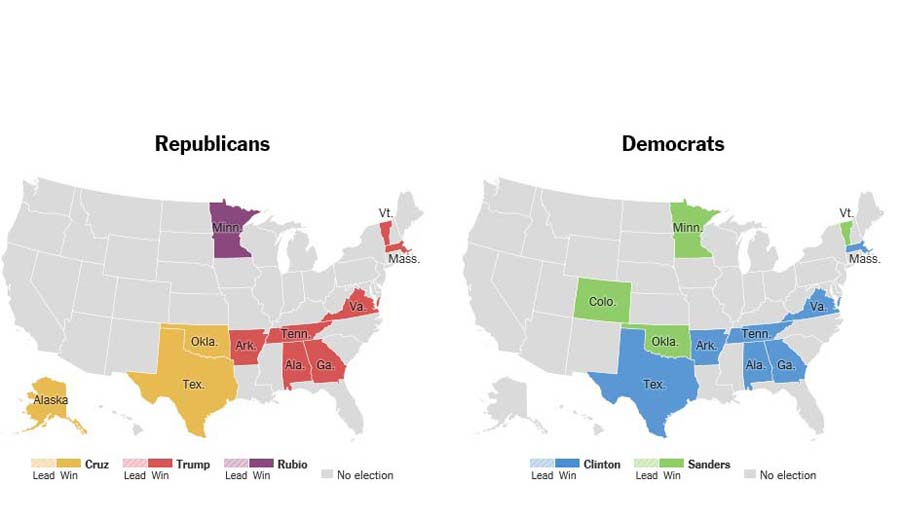 A+graphical+representation+of+the+results+of+delegates+given+to+each+candidate+from+each+state.+