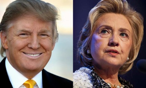 Based on the results of Super Tuesday, it is predicted that Donald Trump (left) will be the lead Republican candidate in November and that Hillary Clinton (right) will be the lead Democratic candidate in November.