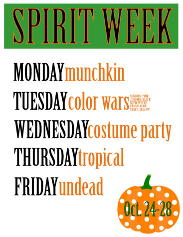 SPIRIT WEEK! OCT. 24th-28th