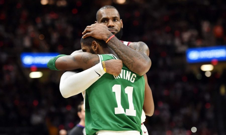Oct+17%2C+2017%3B+Cleveland%2C+OH%2C+USA%3B+Cleveland+Cavaliers+forward+LeBron+James+%2823%29+and+Boston+Celtics+guard+Kyrie+Irving+%2811%29+hug+after+the+Cavs+beat+the+Celtics+102-99+at+Quicken+Loans+Arena.+Mandatory+Credit%3A+Ken+Blaze-USA+TODAY+Sports+