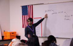 Mr. Franzen teaching the class