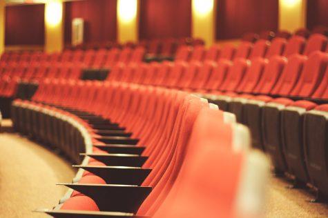 Red seats in the auditorium
