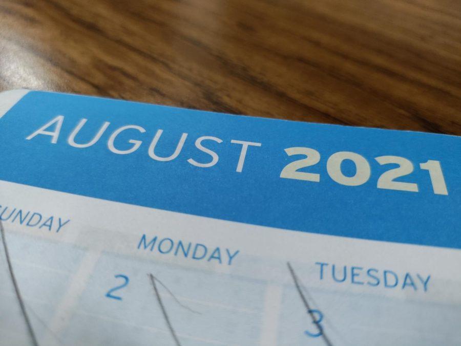 image showing august calendar