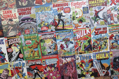 There are several rouse of comic books that fill up the whole screen.